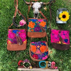 Embroidered Mexican bags